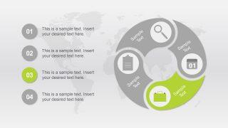 Business Metaphor Illustrations Segmented Diagram