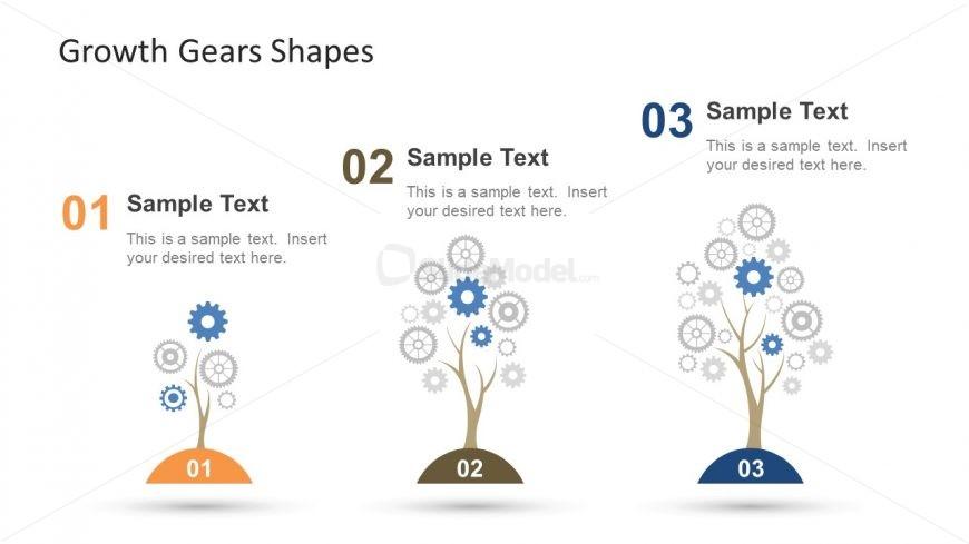 Gear Shapes Growth Metaphor Slide