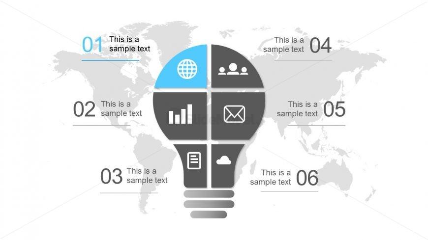 Infographic Slide of Lightbulb Shape