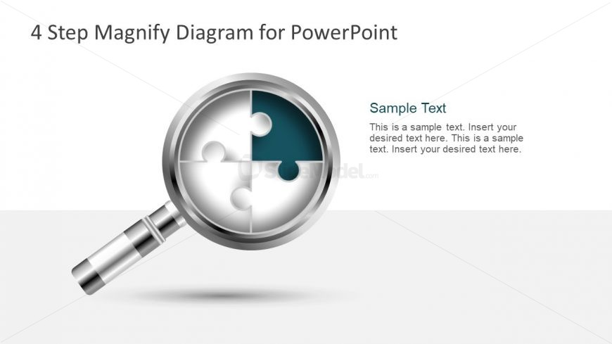 Free PowerPoint Diagram of Magnifying Glass