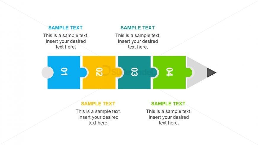 4 Step Pencil Design Timeline Slide