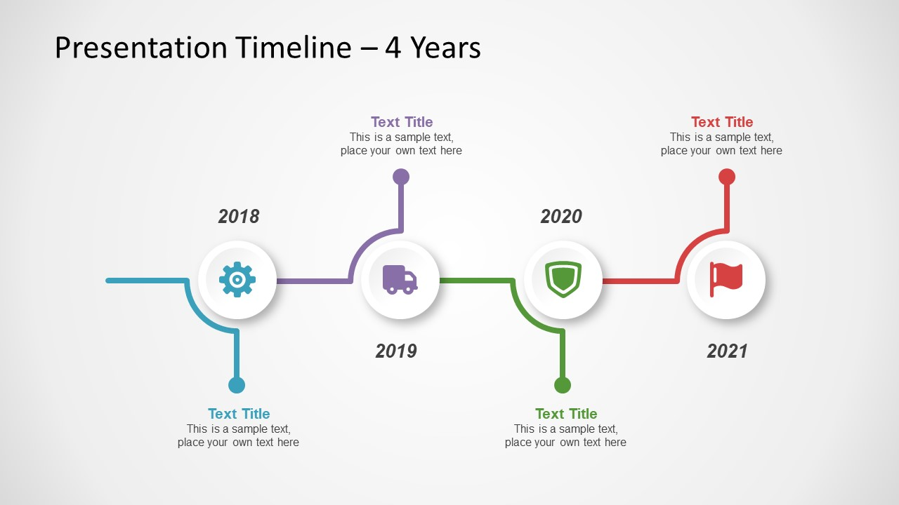 Horizontal Timeline Infographic Diagram Free PowerPoint Presentation