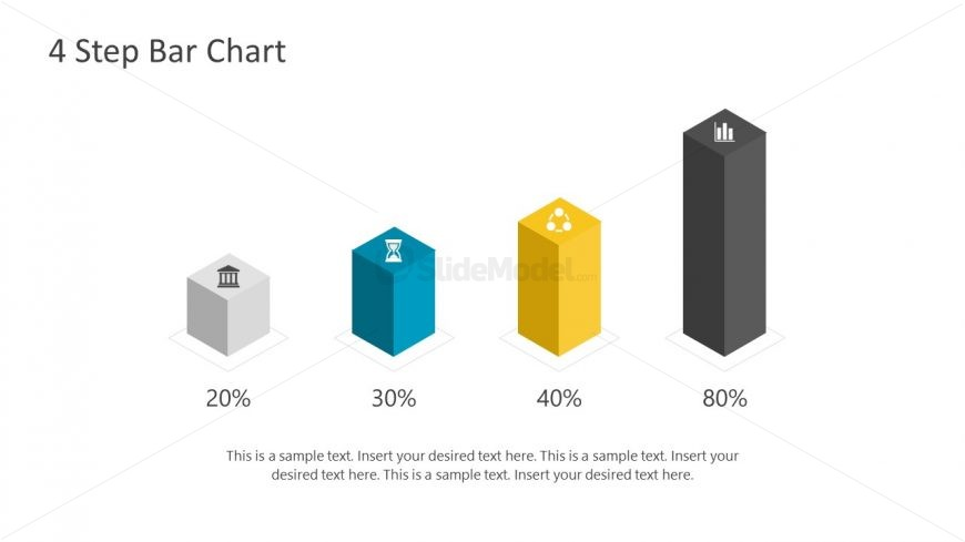 Infographic Icons Bar Chart Slide