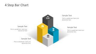 Four 3D Bars PowerPoint Diagram
