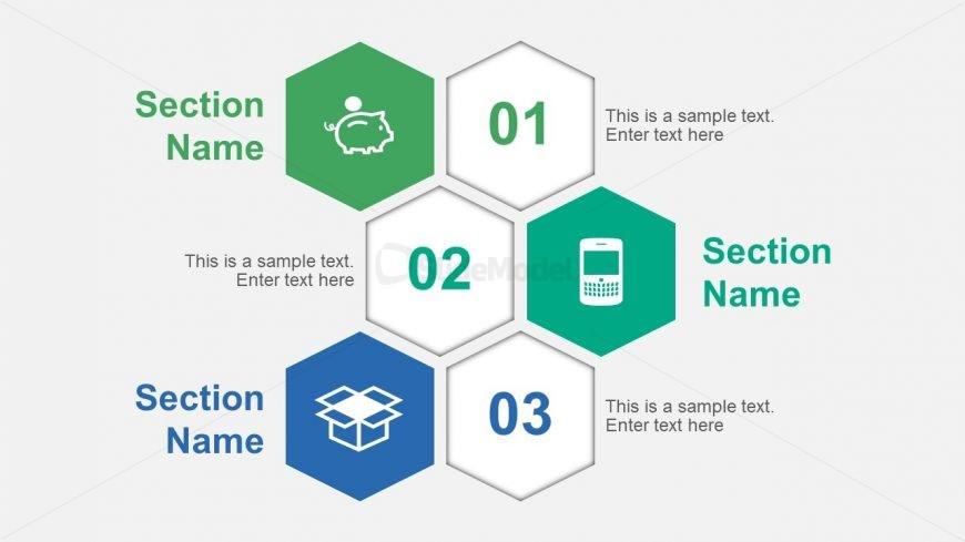 Hexagonal Multi Step PowerPoint Diagrams