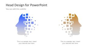 Information Technology Head PowerPoint Shapes