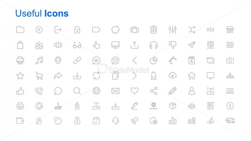 Infographic Icon Slide of 96 Shapes