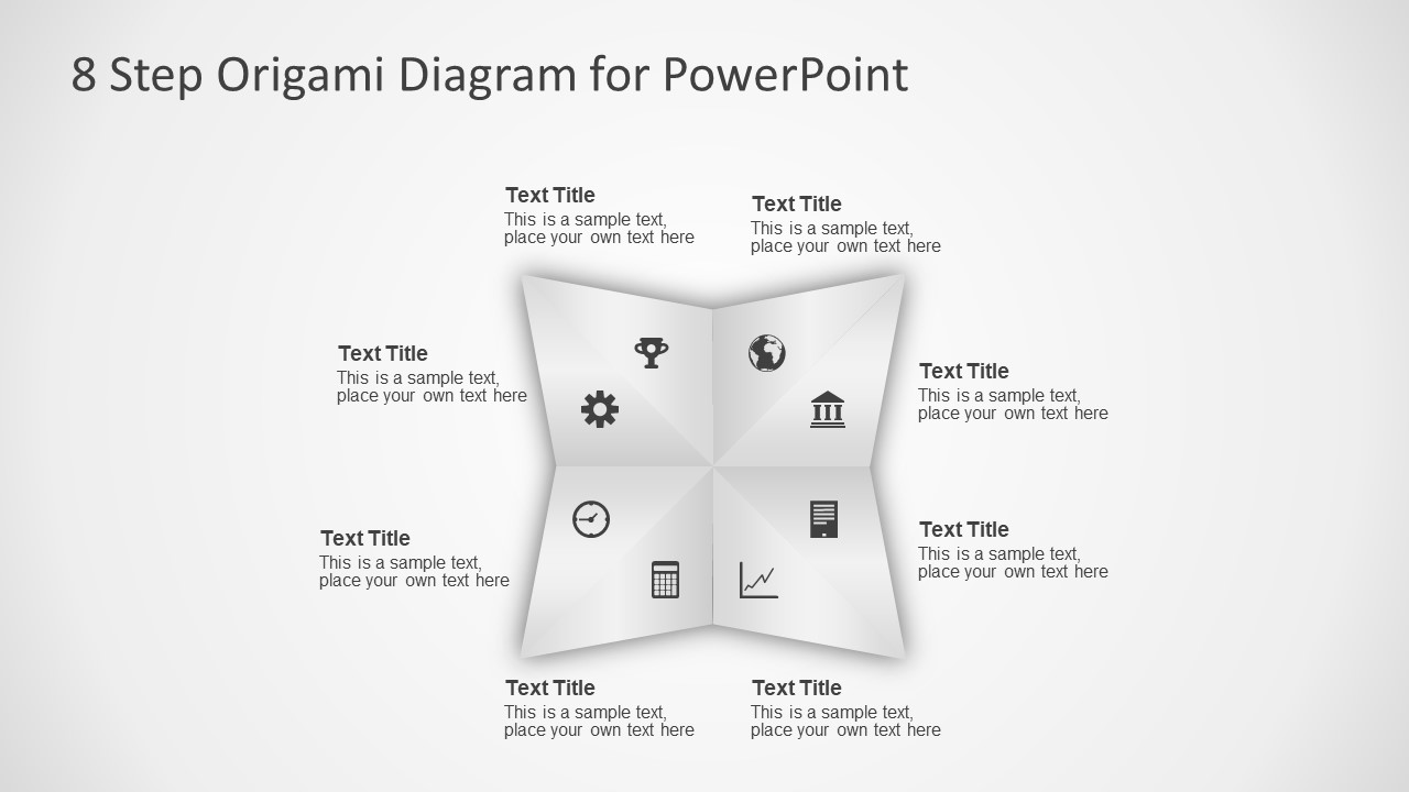 Infographic Diagram of Origami Template