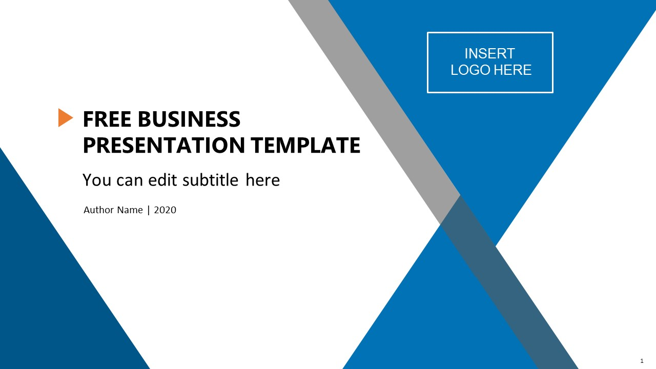 free business presentation template slidemodel