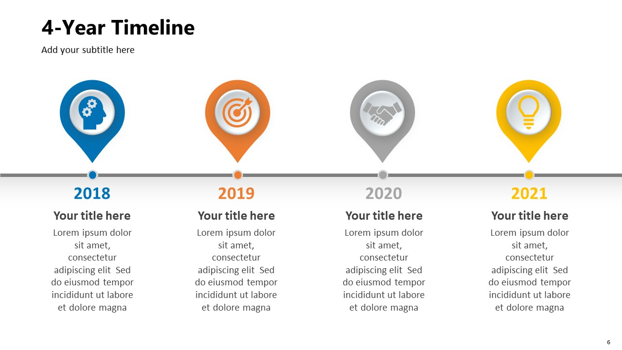 4 Year Timeline PPT