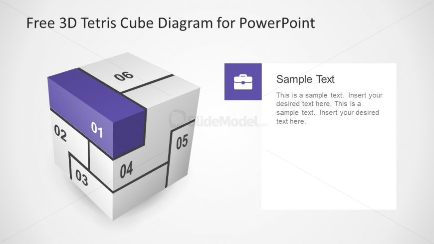 Vector Slide Diagram for Cube