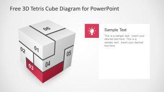 Puzzle Design PowerPoint Cube Tetris
