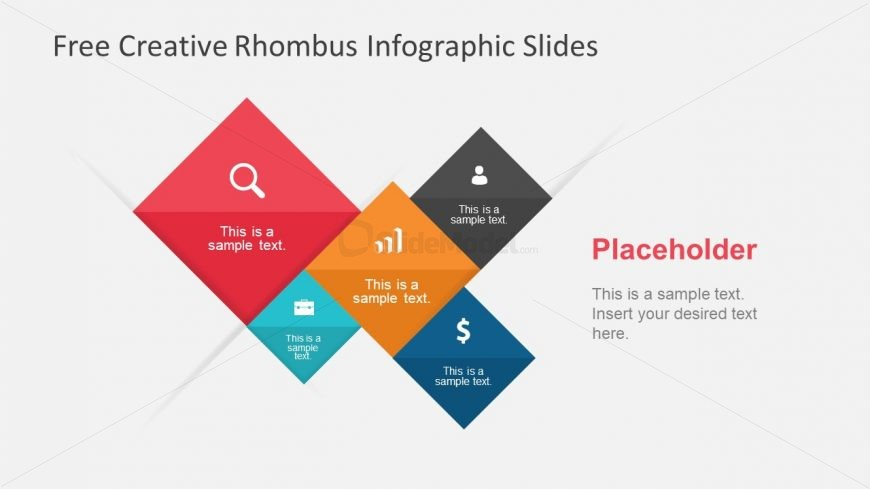 PowerPoint Rhombus Infographic Shapes