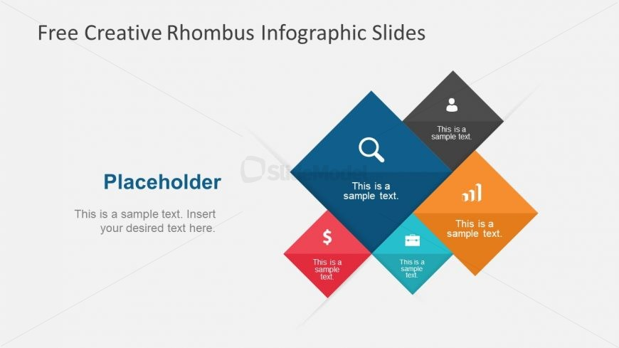 Free PowerPoint Rhombus Collage