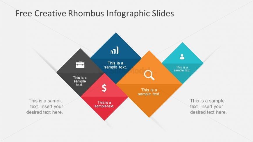 PPT Infographic Slides of Rhombus