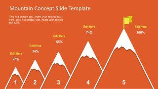 Creative Bar Chart Presentation Mountain
