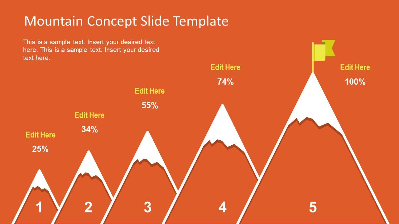 creative bar chart presentation mountain