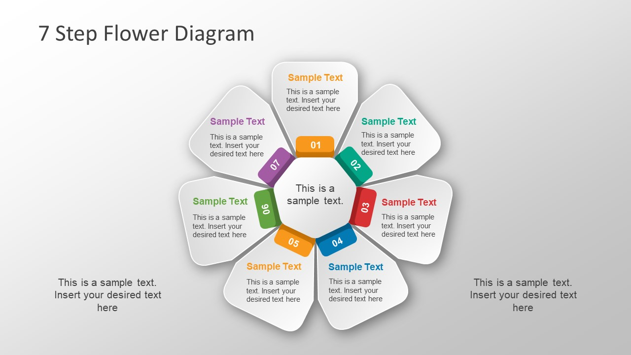Free 7 Step Flower Diagram Powerpoint Template