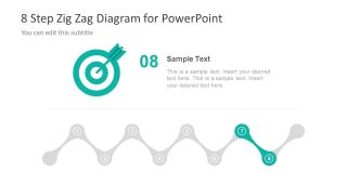 Template of Zig Zag with Target Clipart