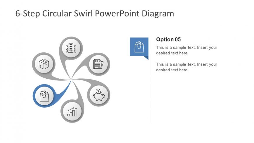 Editable Swril Segments PowerPoint