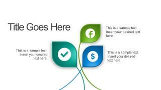 3 Segment Leaf PowerPoint