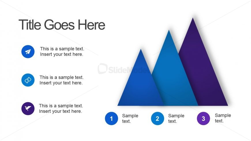 3 Triangle Steps Template