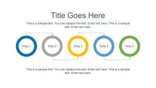 PowerPoint Timeline Diagram Circular Design