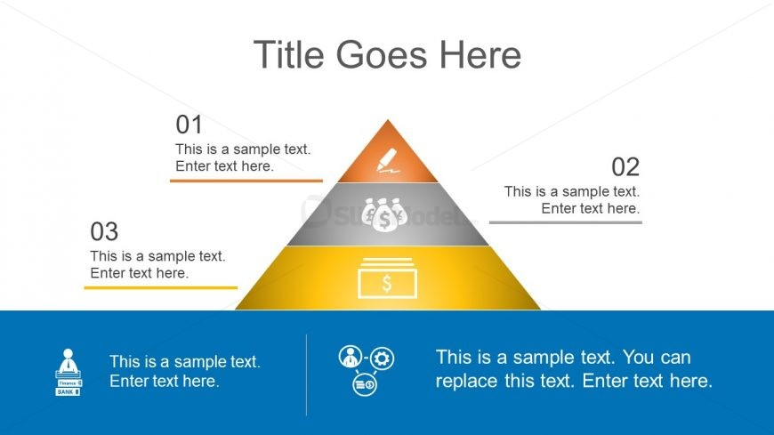 Infograhic 3 Level Pyramid Template