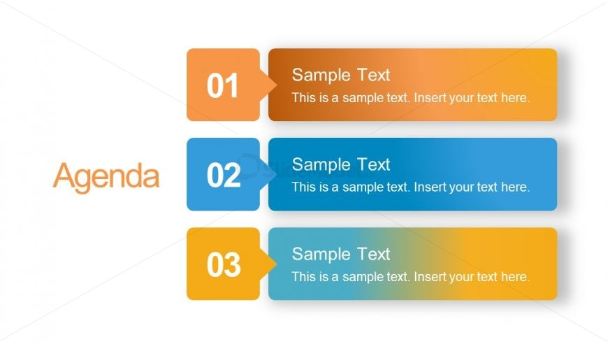 PowerPoint Agenda Slide List Format