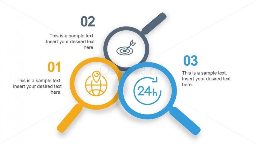 Slide of 3 Infographic Segments