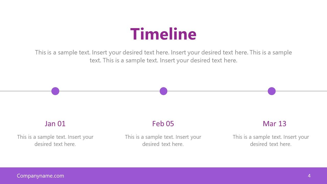 Horizontal Timeline 3 Milestones