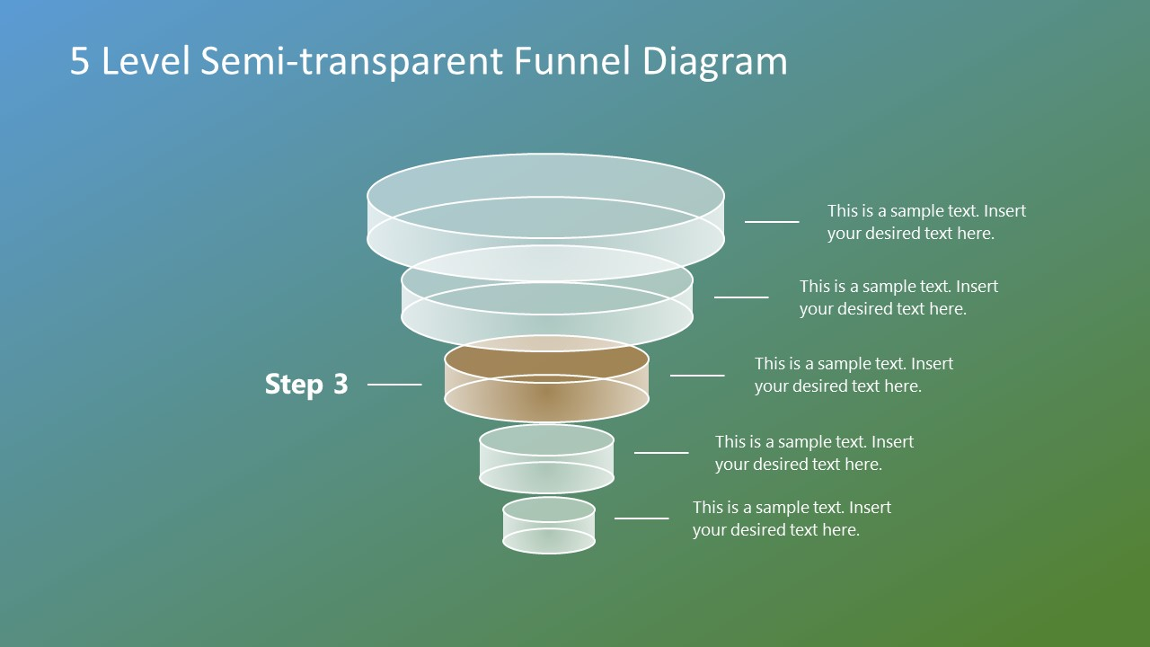 Editable Funnel Diagram Template
