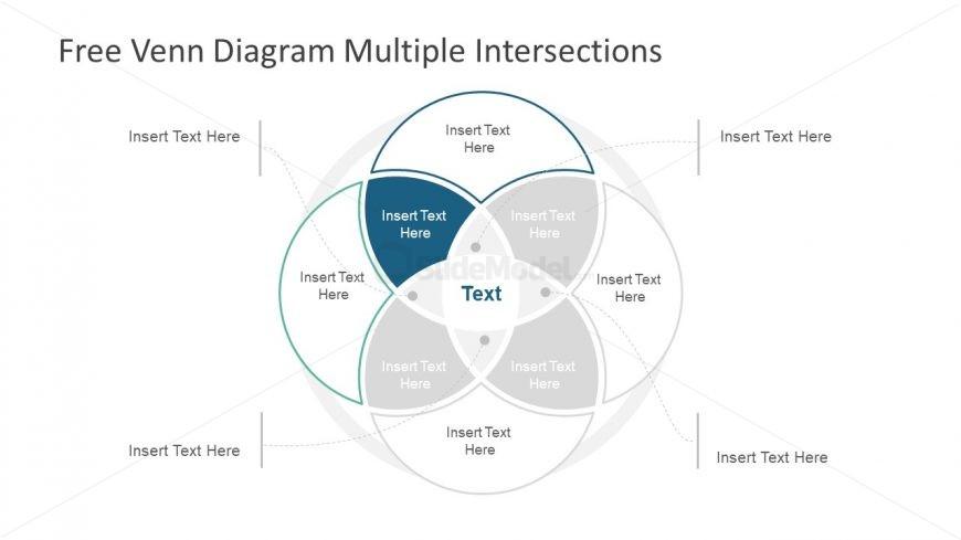 Slide of Venn Diagram 4 Steps