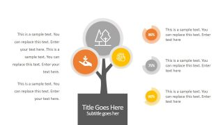 3 Step Infographic Tree Diagram