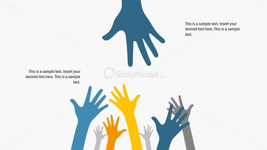 Hand Reaching Out Template