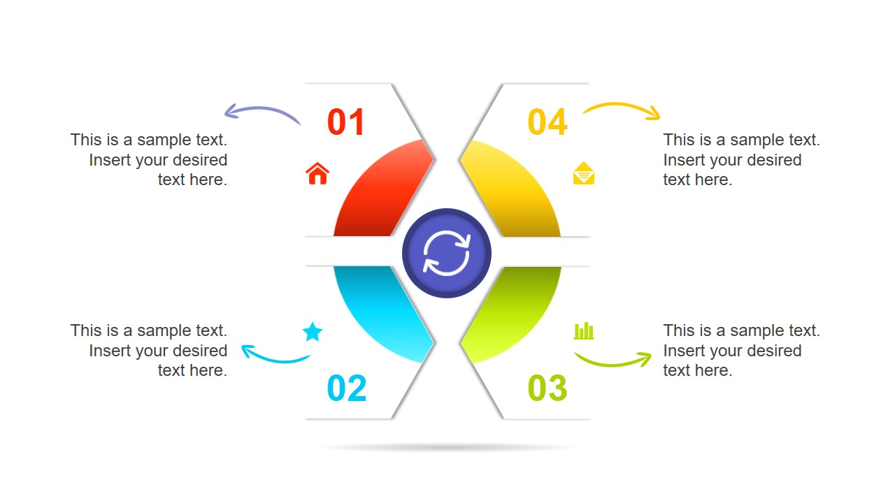 4 Steps Segmented DIagram Chevron