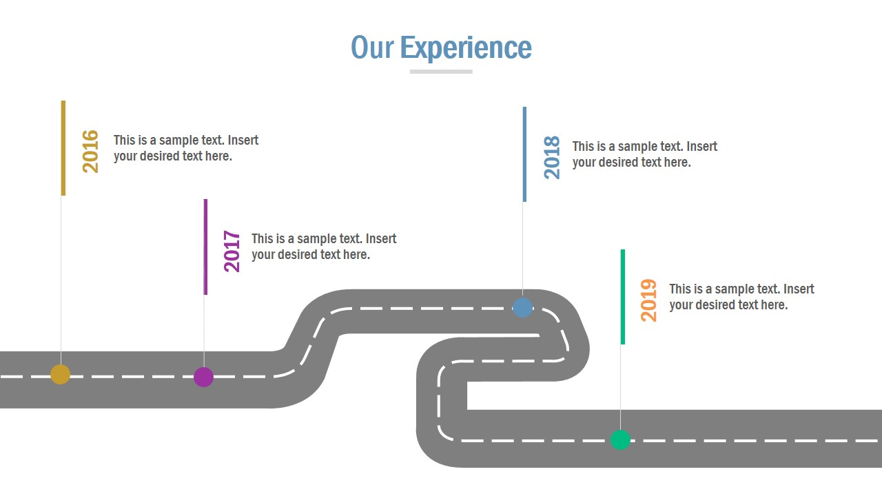 Slide of Roadmap Timeline Design
