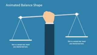 Flat PowerPoint Balance Shapes