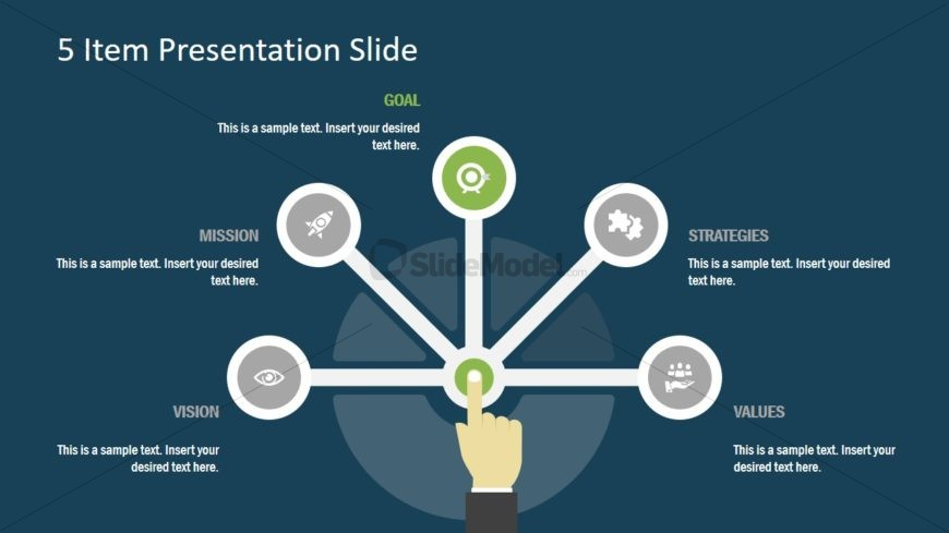 Slide of Infographic Semi-Circle
