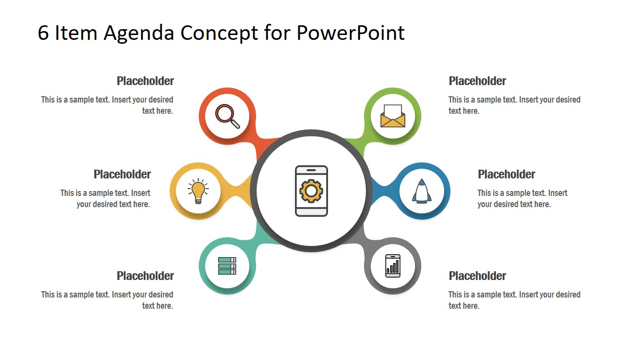 Free 6 Item Agenda Concept for PowerPoint