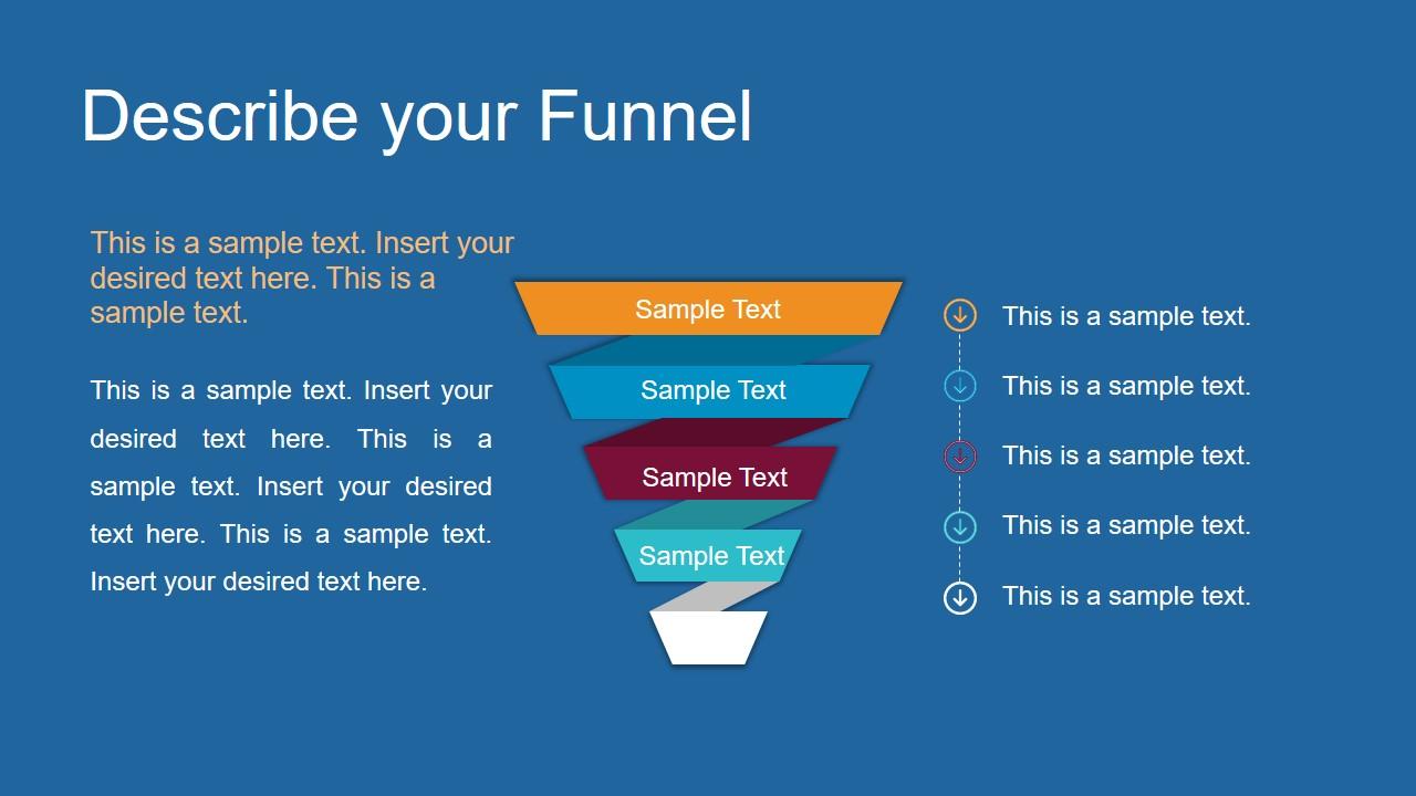 Funnel Design Powerpoint Diagram