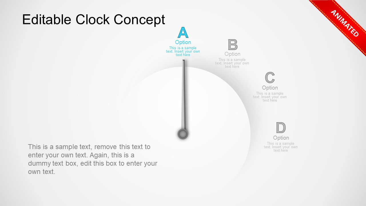 Analog Clock Animation Template
