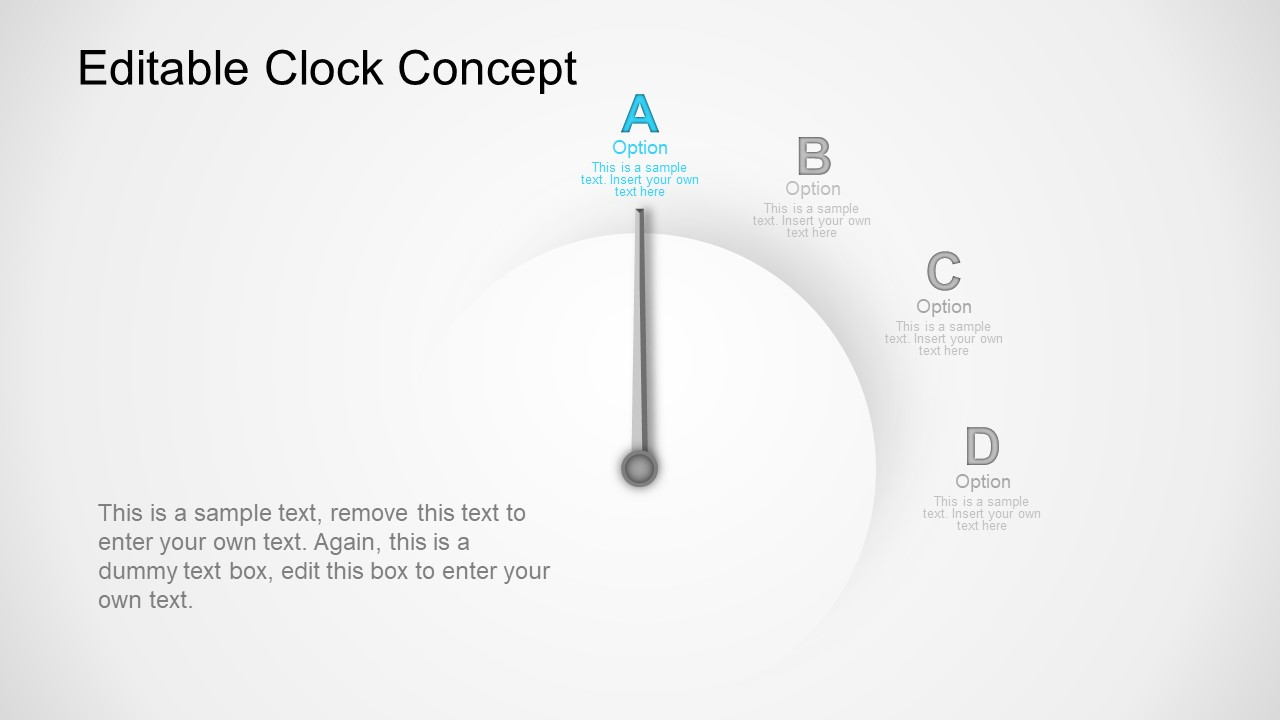 PowerPoint 4 Steps Time Clock