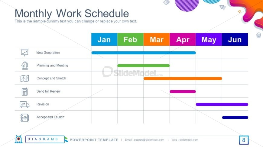 Gantt Chart Design for Timeline