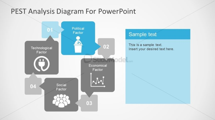 Infographic PowerPoint PEST Analysis Diagram