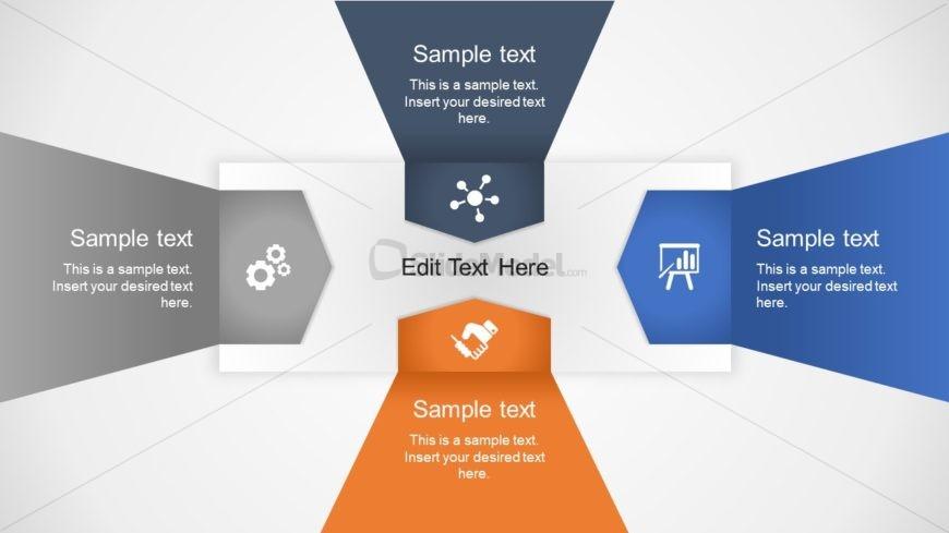 4 Steps PowerPoint Arrow Diagram