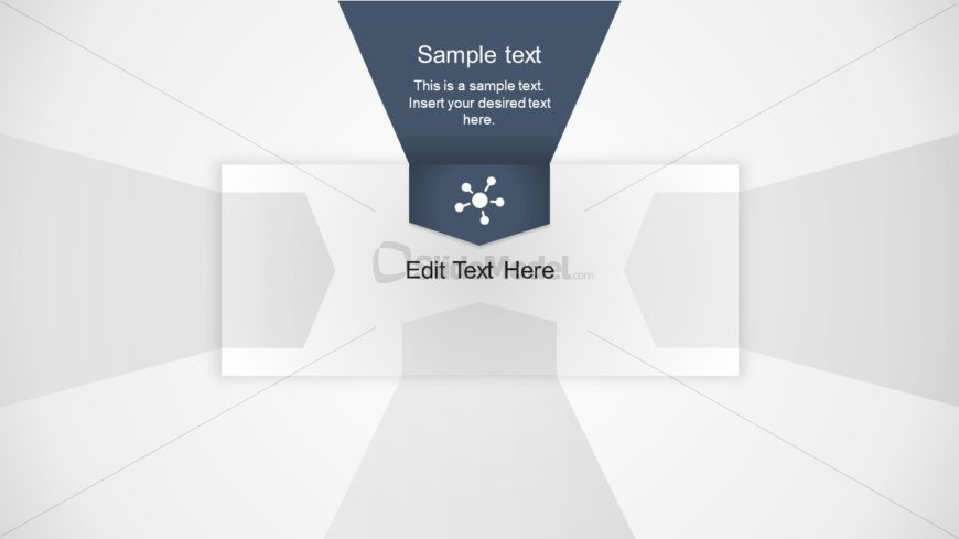 Flat PowerPoint 3D Layout 1 Step