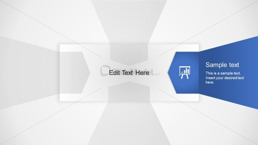 Flat PowerPoint 3D Layout 2 Step