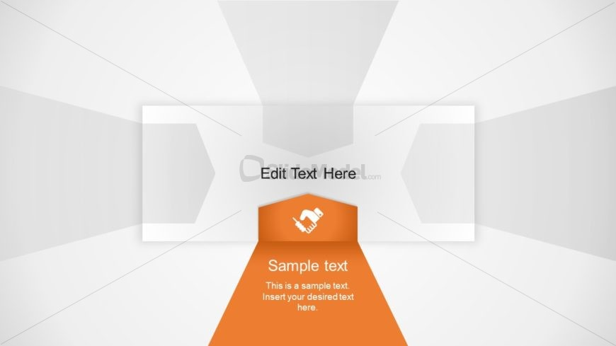 Flat PowerPoint 3D Layout 3 Step