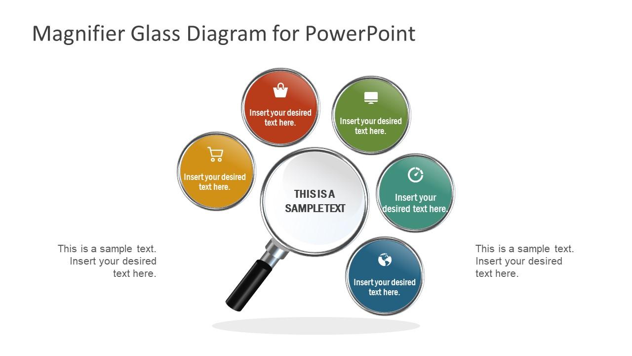 Free 5 Steps Magnifier Focus Powerpoint Diagram Slidemodel